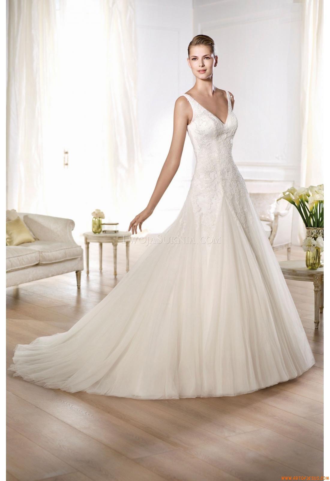 Natural wedding dresses  Wedding Dresses Pronovias Oly   DressLacy  Pinterest
