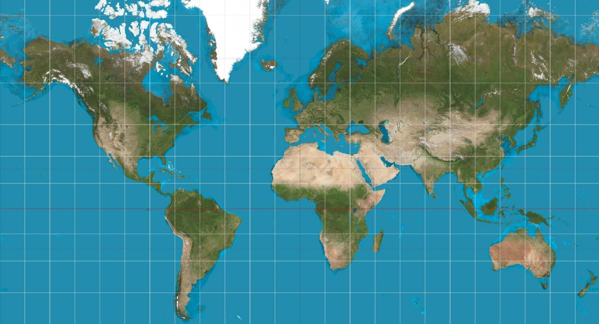 mercator projection map Ed world studies Pinterest Boston - new world map of africa