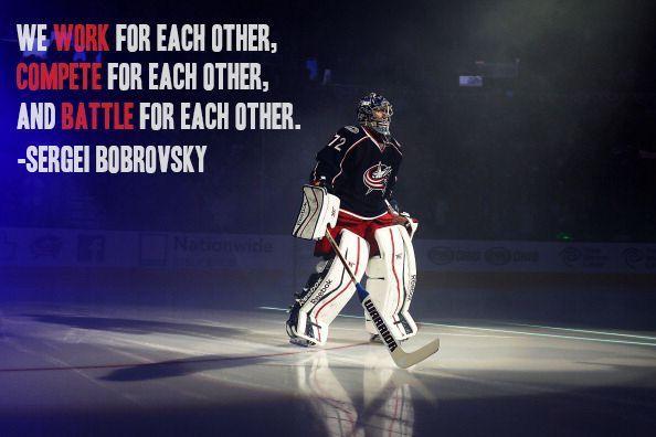 Pin By Liz Fryer On Hockey Hockey Goalie Blue Jackets Hockey Hockey Quotes