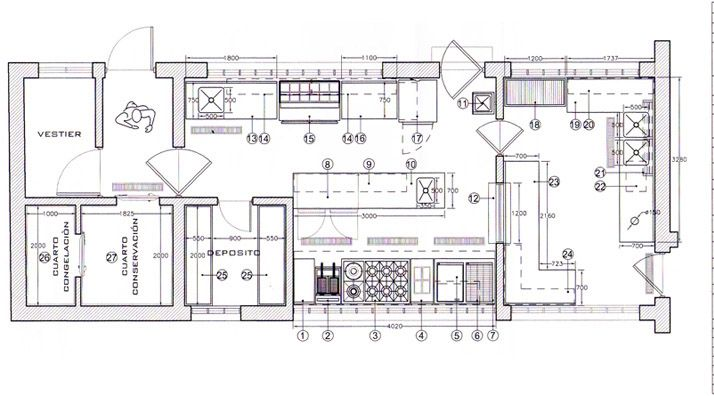 Planos de cocinas de restaurantes 3d buscar con google for Croquis de una cocina de restaurante
