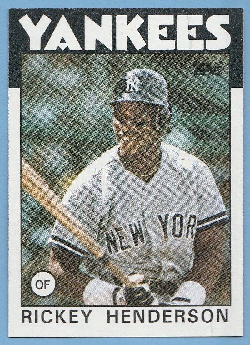 Rickey Henderson 1986 Topps 500 Mercari In 2020 Rickey Henderson New York Yankees Baseball Baseball Trading Cards