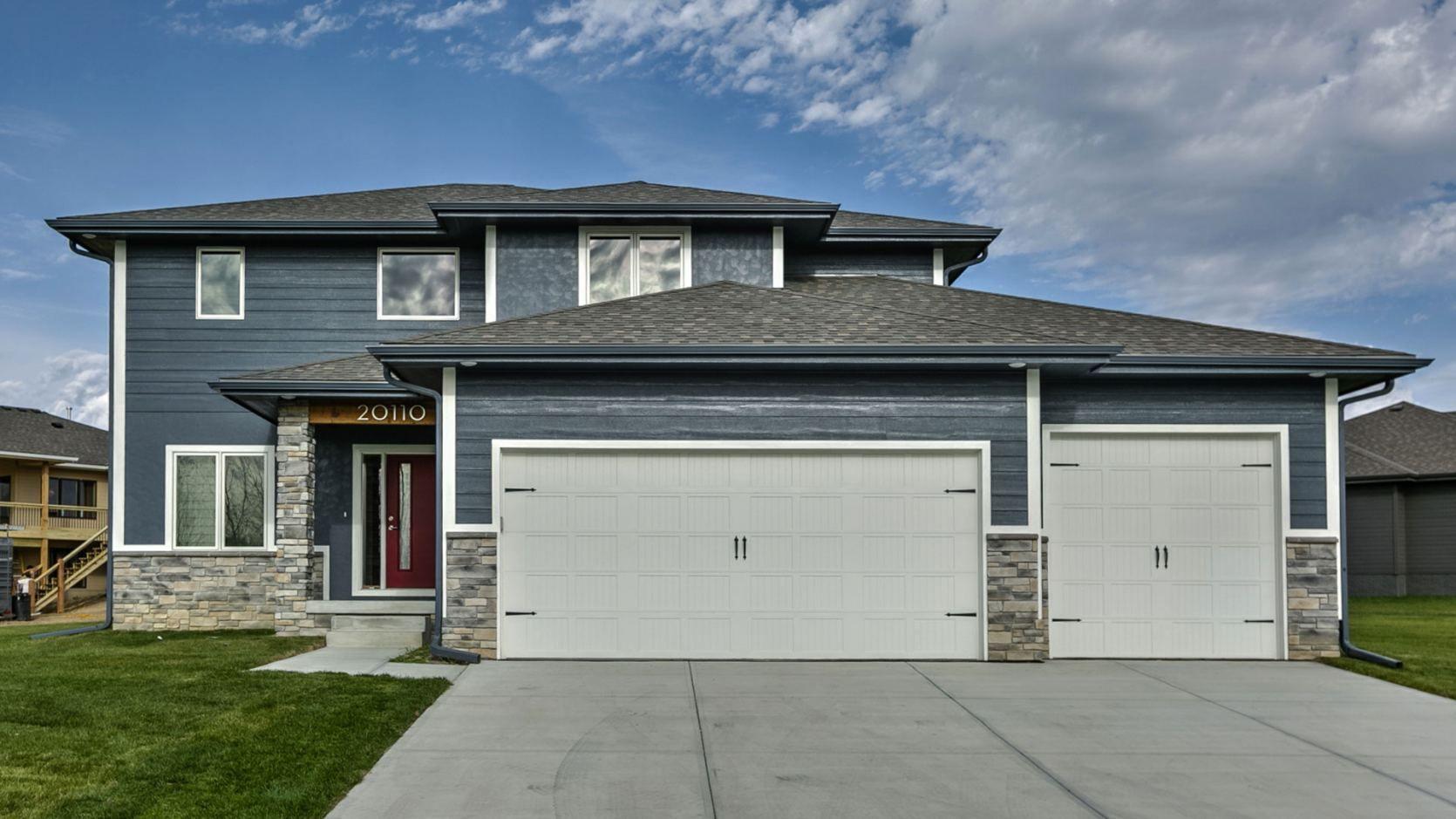 Image Result For Blue House Garage Doors Garage Door Styles Garage Door Repair Service
