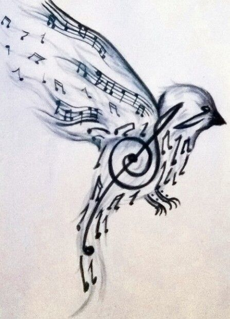 Music note bird wrist tattoo | Tatoo ideas | Pinterest ...