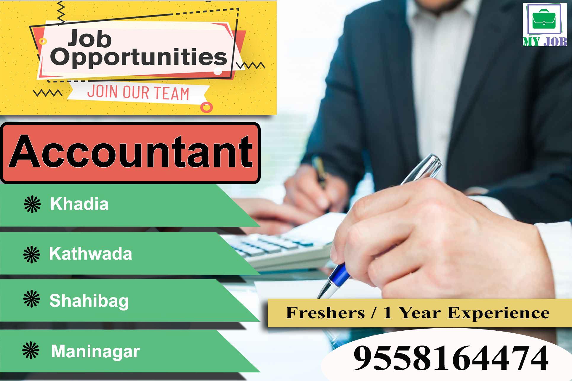 Job Vacancy For Account In Ahmedabad Fresher Can Apply Job Location Maninagar Khokhra Khadia Khatraj Kadhwada Regis Job Placement Apply Job Job