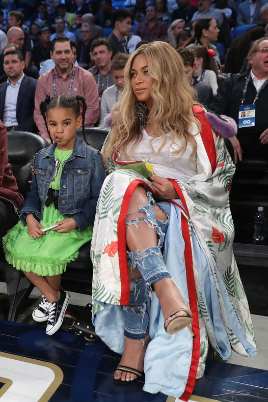 f2e153a0b7d Beyoncé and Blue Ivy attend the 2017 NBA All-Star Game on February 19, 2017  in New Orleans, Louisiana.
