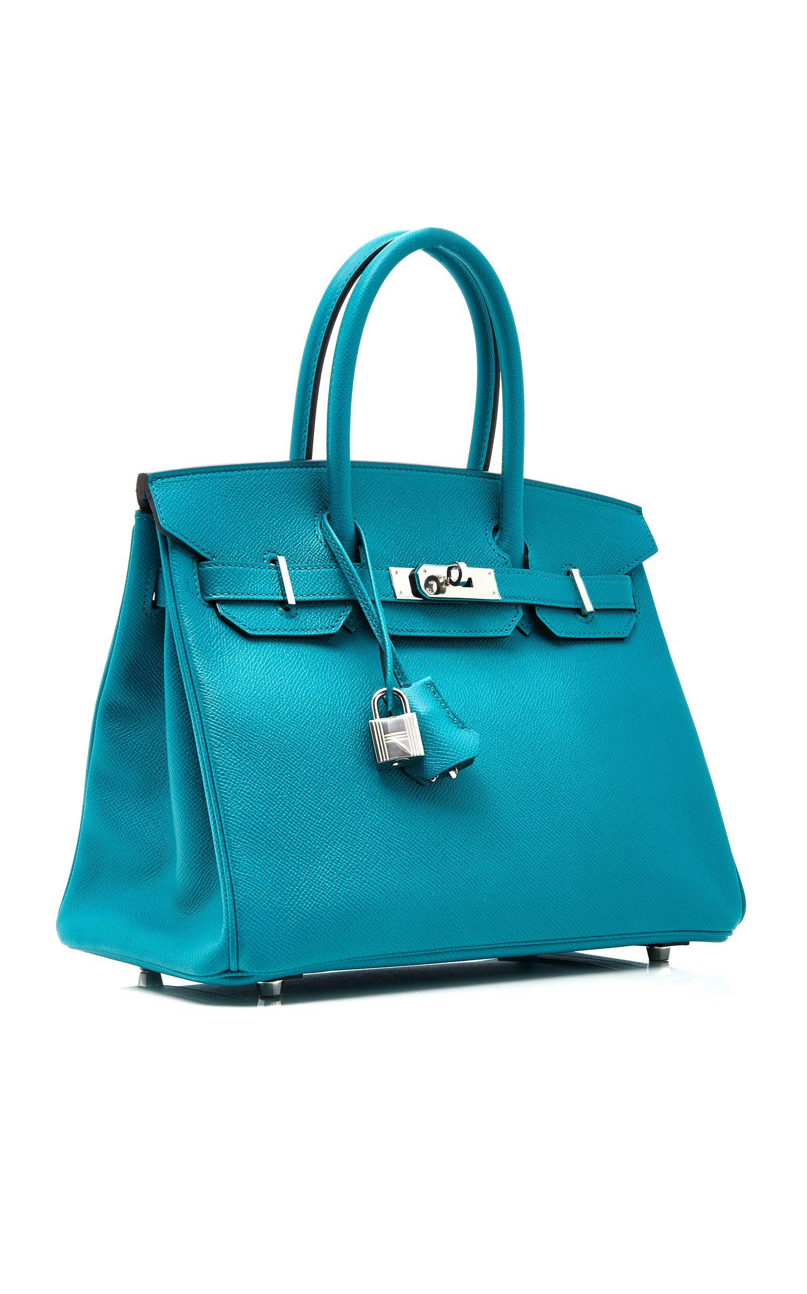 96668159c05 Hermes 30cm Blue Paon Epsom Birkin Carteira