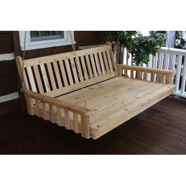 6 ft Painted / Stained Pine Traditional English Swing Bed . . . great products for the cabin and great prices