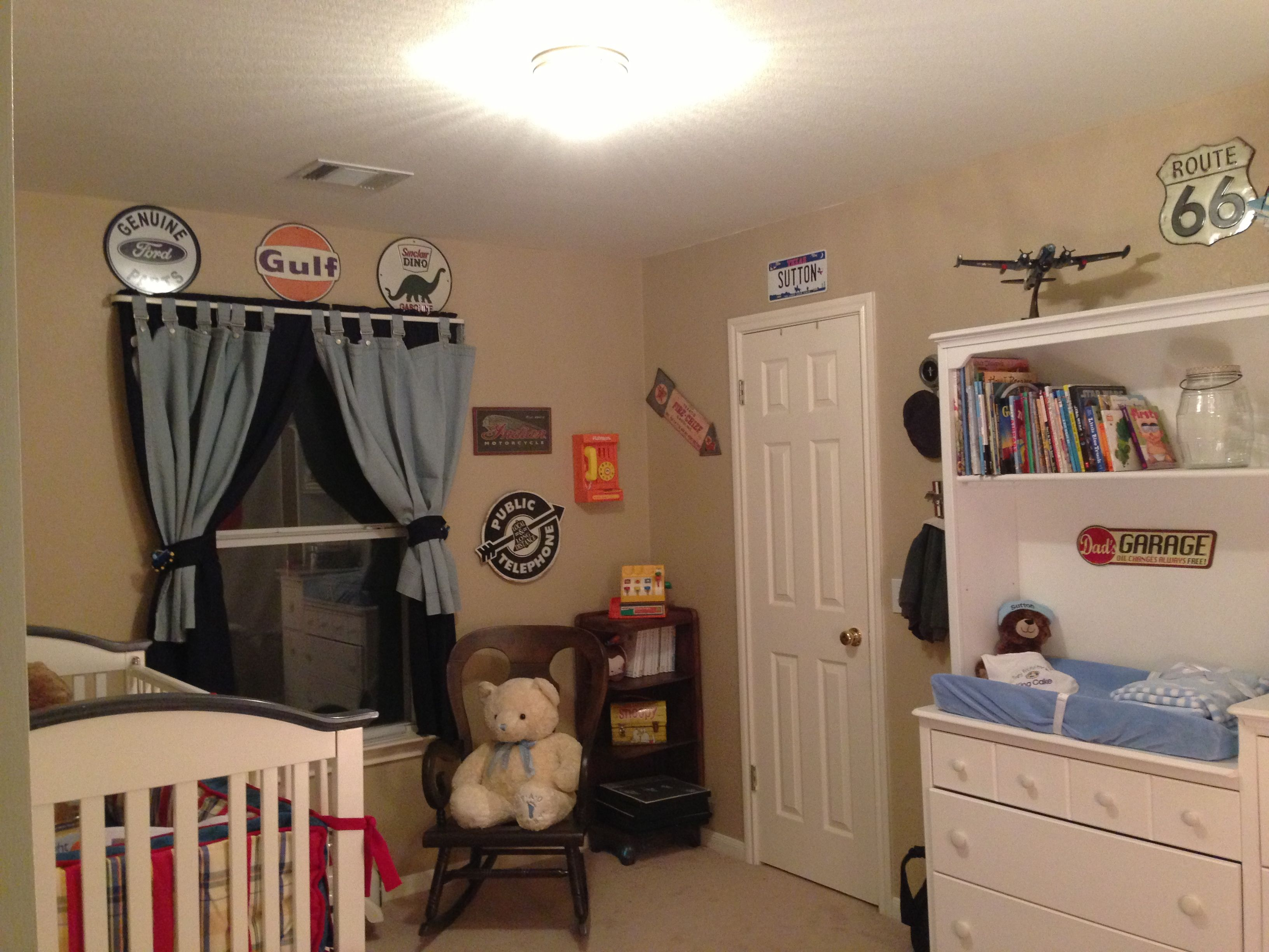Vintage Garage Theme For Baby Boys Room Transitions Nicely To Big Boy Too