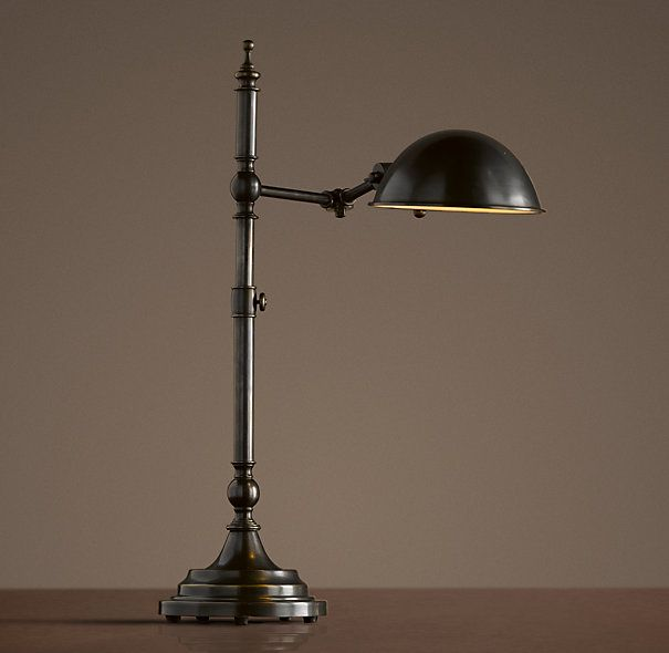 Marvelous Franklin Pharmacy Task Table Lamp Bronze