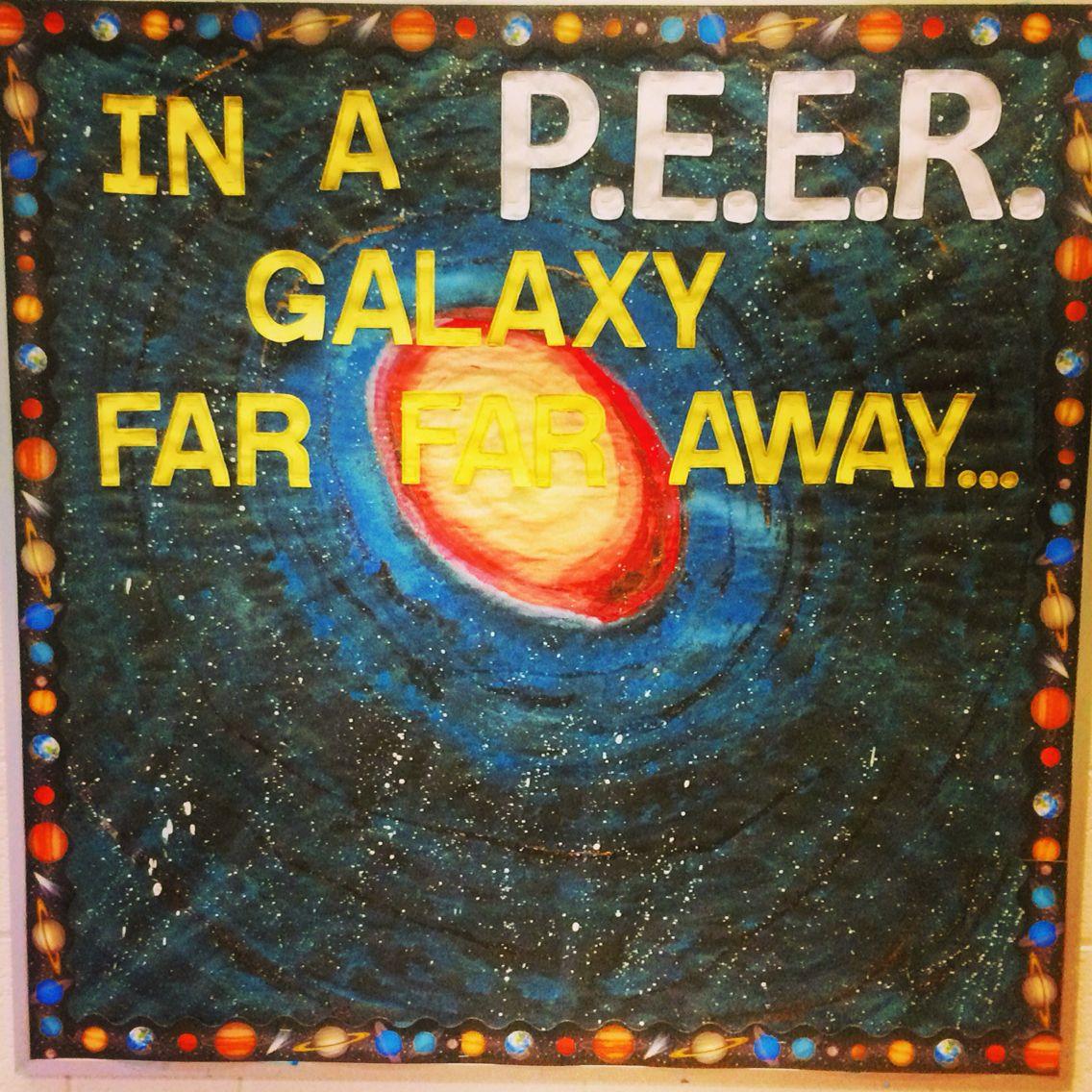 Galaxy Themed Bulletin Board