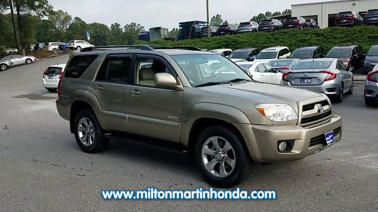 USED 2008 TOYOTA 4RUNNER RWD 4DR V6 LIMITED at Milton