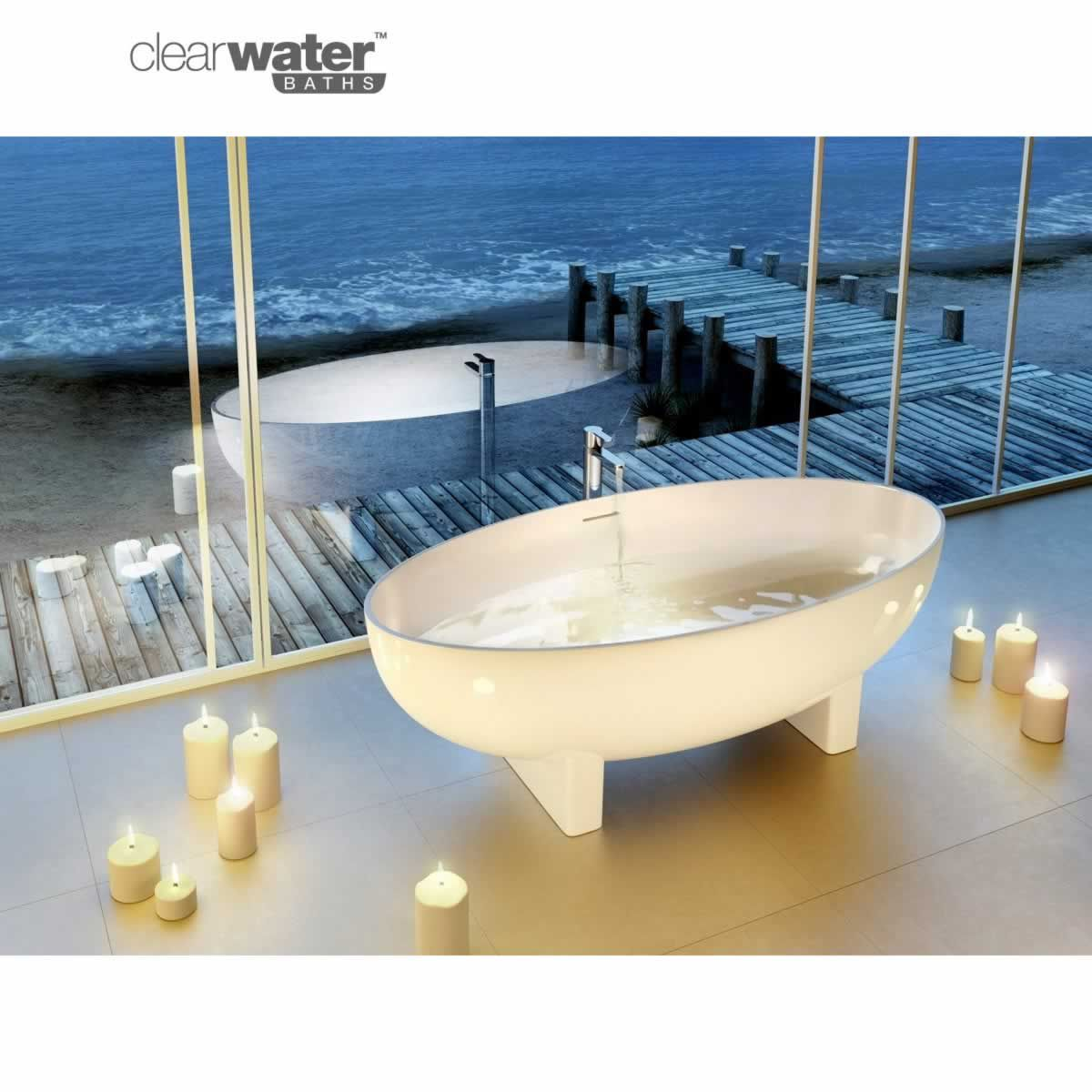Clearwater Lacrima Freestanding Natural Stone Bath | Natural stones ...