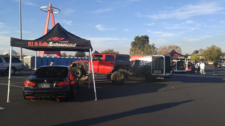Al Eds Autosound Is At Angel Stadium In Anaheim Ca Getting Set - Angel stadium car show