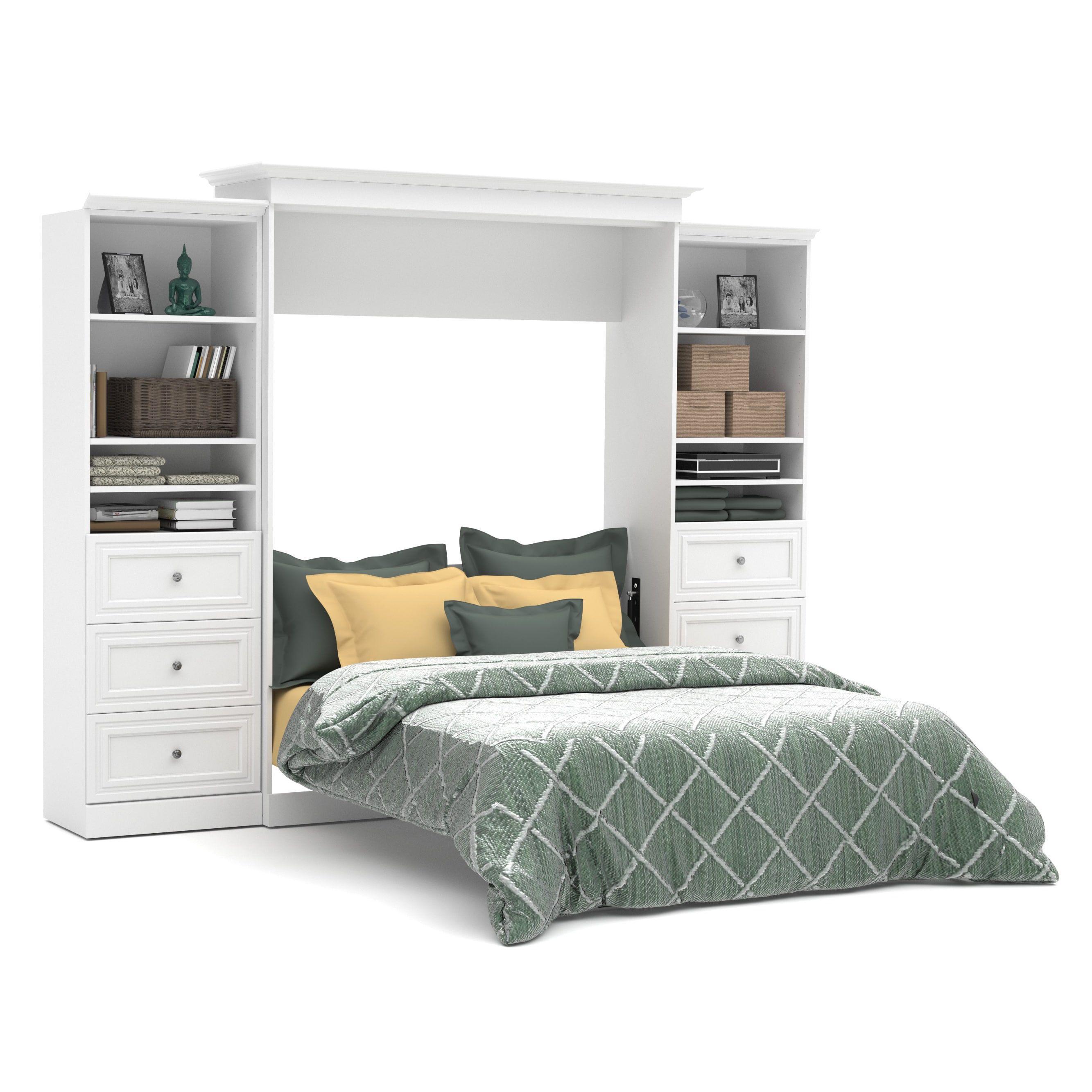 versatile by bestar 115 inch queen size wall bed set overstock com