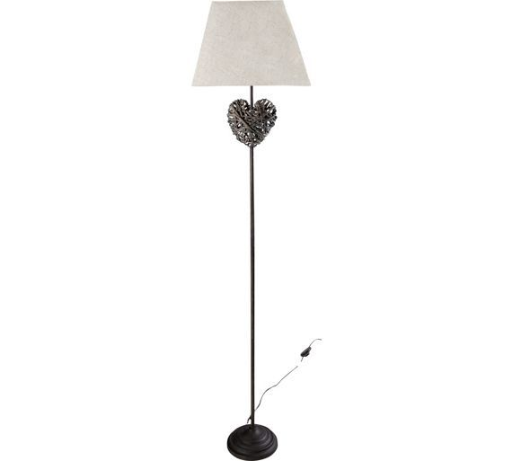 Buy Collection Erin Rattan Heart Floor Lamp - Grey at Argos.co.uk ...