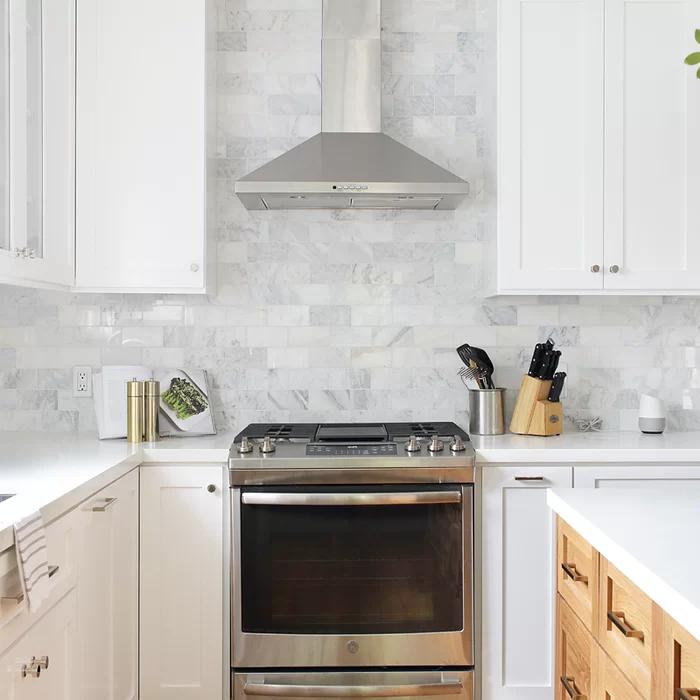 Greecian 3 X 6 Marble Look Wall Floor Tile Kitchen Backsplash Designs Kitchen Remodel Cost Kitchen Design