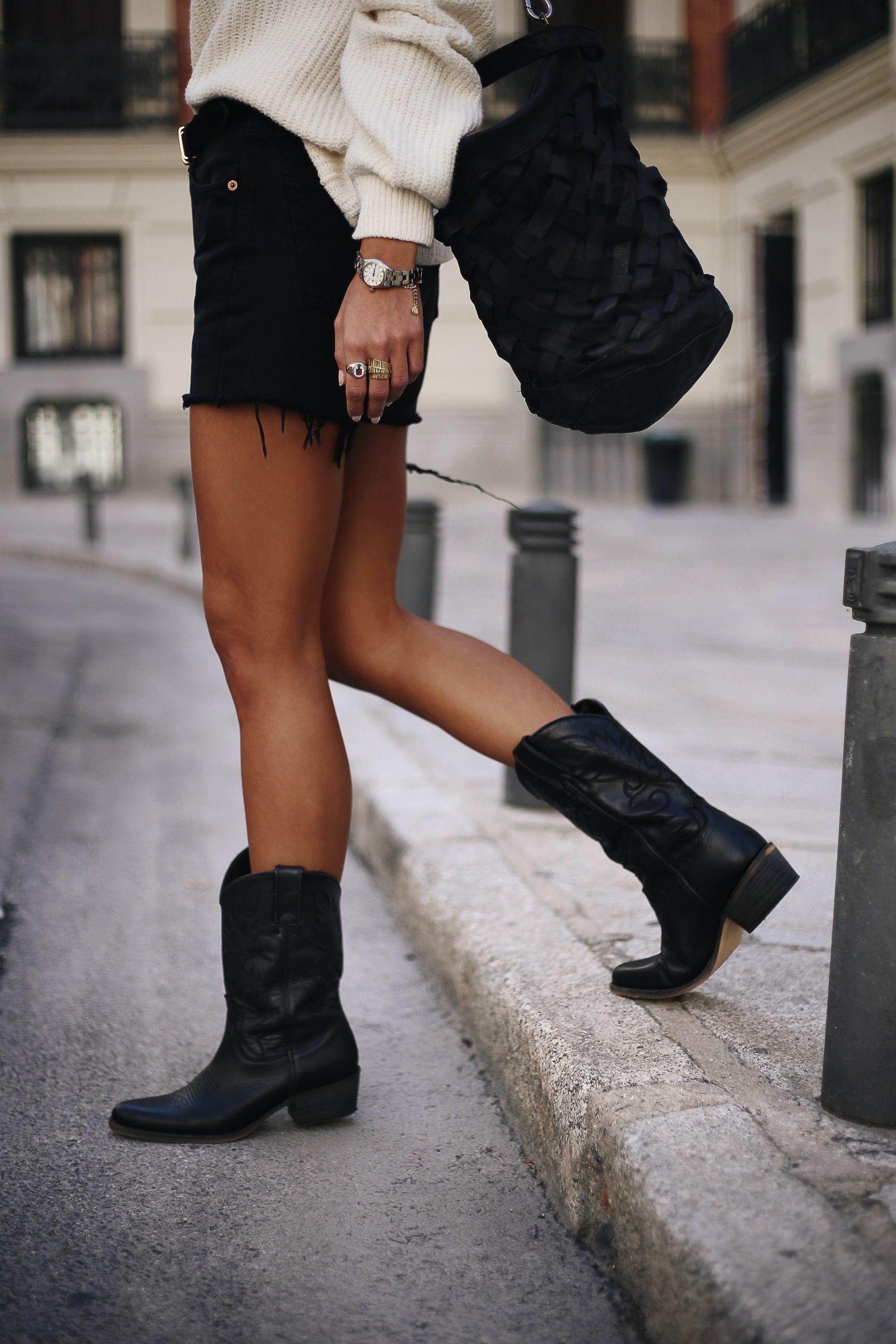 It Silvana Low Black Black Cowboy Boots Outfit Cowboy Boots Outfit Summer Black Cowgirl Boots Outfit [ 2736 x 1824 Pixel ]