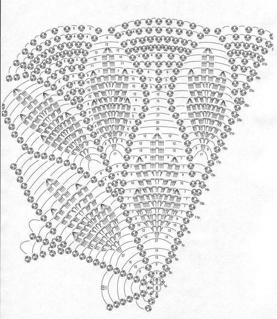 Patrones Crochet: Chal de Crochet Princesa Patron | ganchillo ...