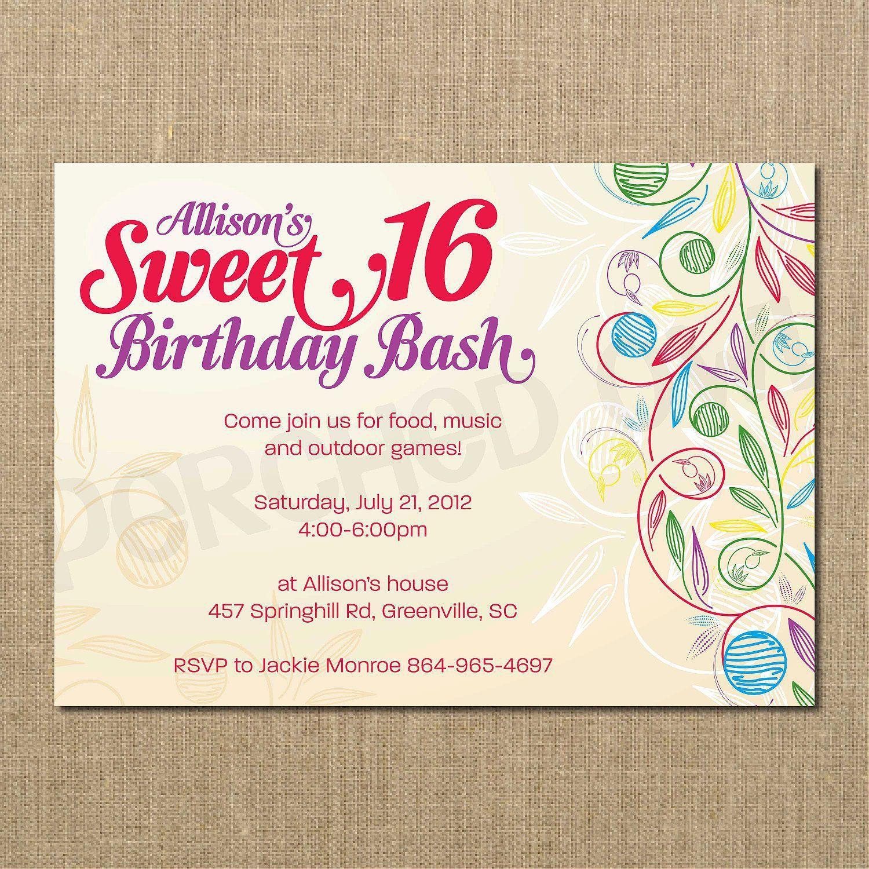 Geburtstagseinladung Text 18 Geburtstag Einladung
