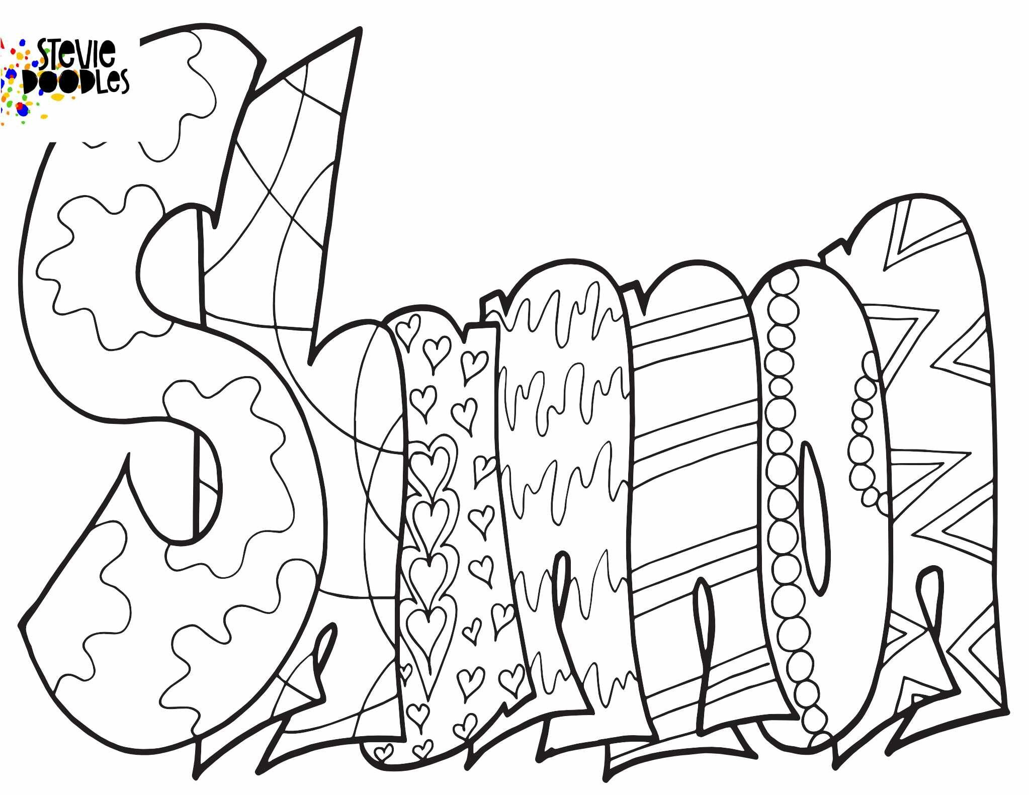 Shannon Free Printable Coloring Page Stevie Doodles Coloring Pages Free Printable Coloring Pages Free Coloring Pages