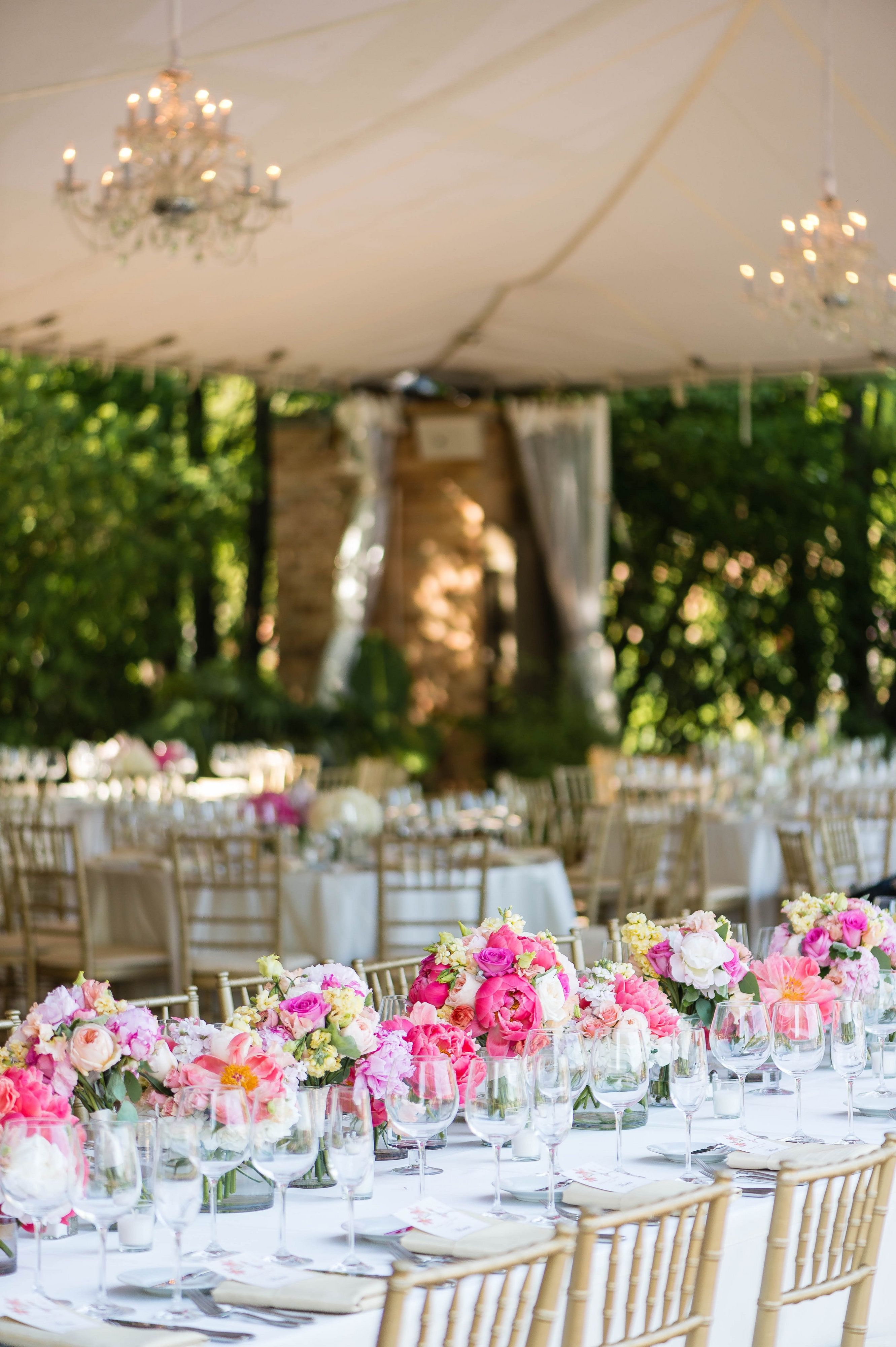 Colorful Wedding Centerpieces By Life In Bloom At The Chicago