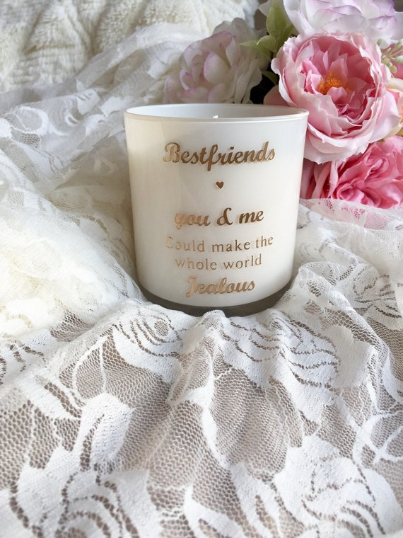 Bestfriend quote Valentines Day Soy candles t scented