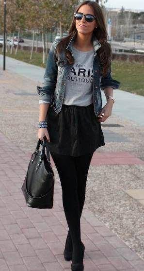 b6359c2e7 faldas en invierno, falda corta | outfits mujer | Moda casual, Ropa ...
