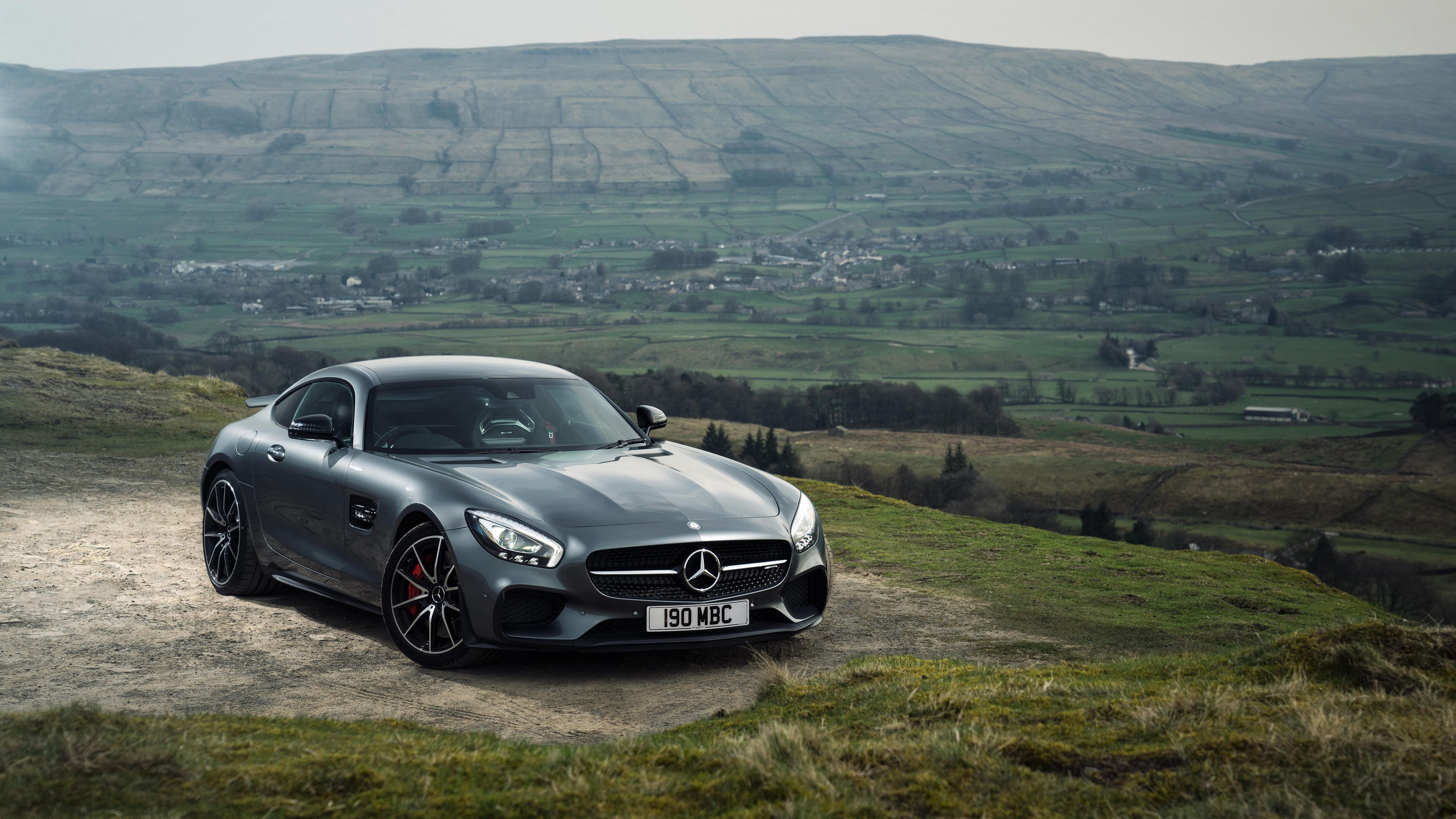 mercedes amg gt s gray side view 4k Mercedes gt s AMG