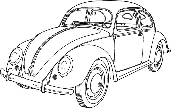 Classic Car Collector Beetle Car Coloring Pages : Best Place to Color
