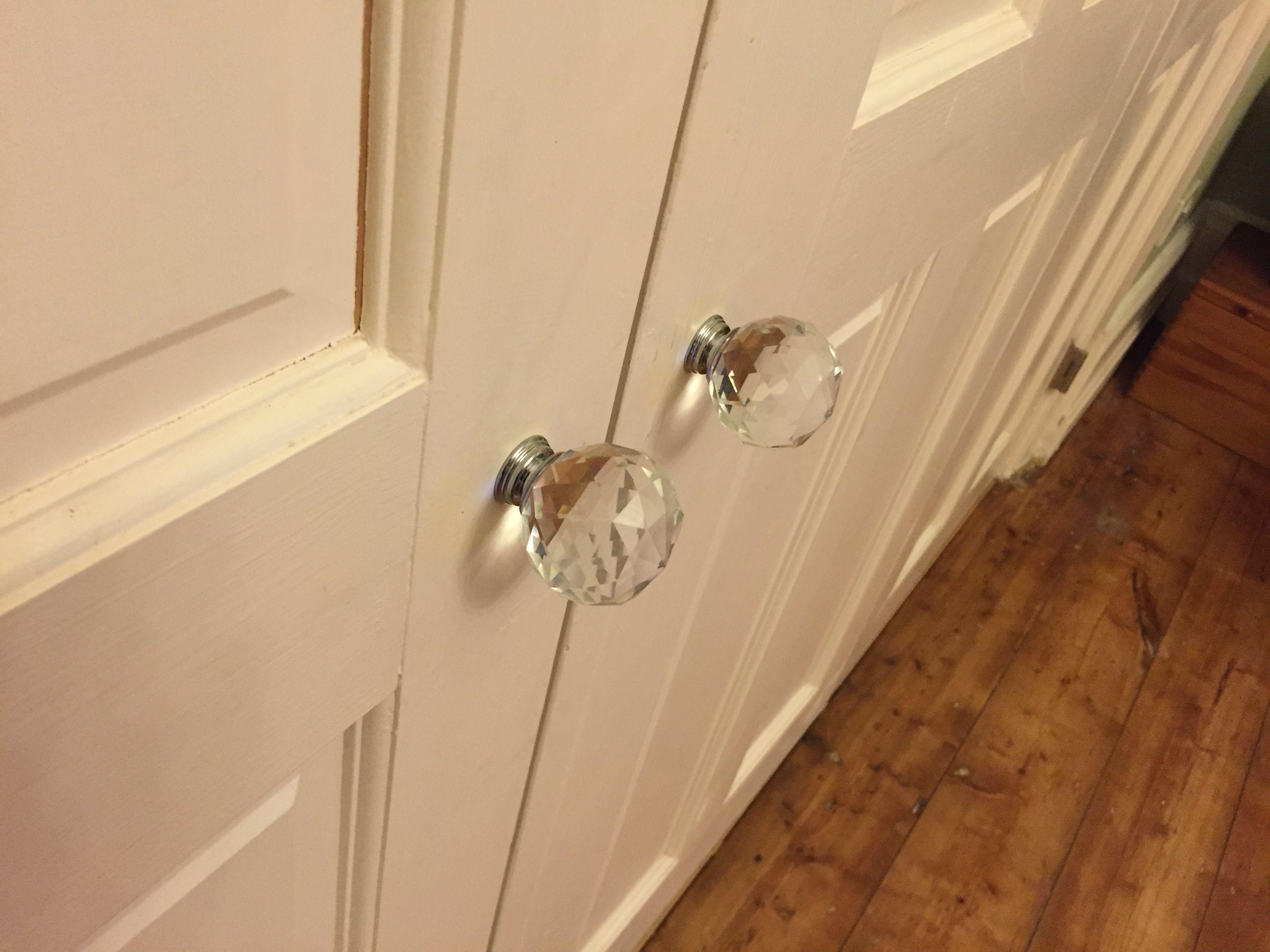 clear crystal door handles for bi folding doors between kitchen