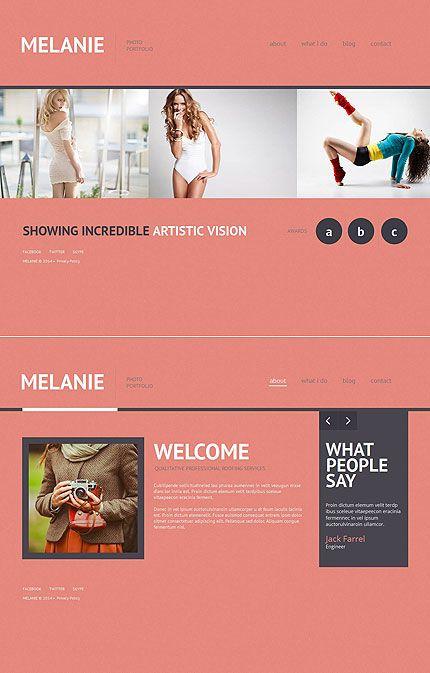 Photographer Portfolio Photo Gallery Template Fotograf Portfolio Fotografen Web Design