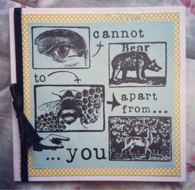 little brightness, sorcha faulkner, card, valentines, bear, deer, bee, pattern, colour, illustration, collage
