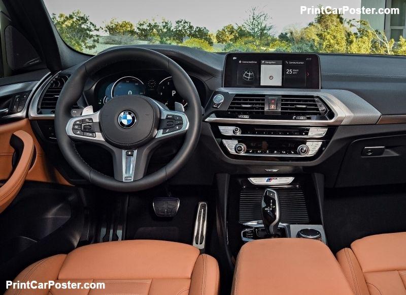 Bmw X3 M40i 2018 Poster Bmw X3 Luxury Car Interior 2017 Bmw