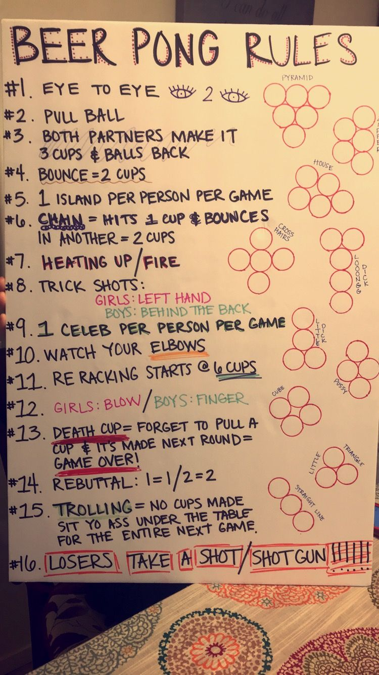 Beer pong rules drinking games for parties beer pong