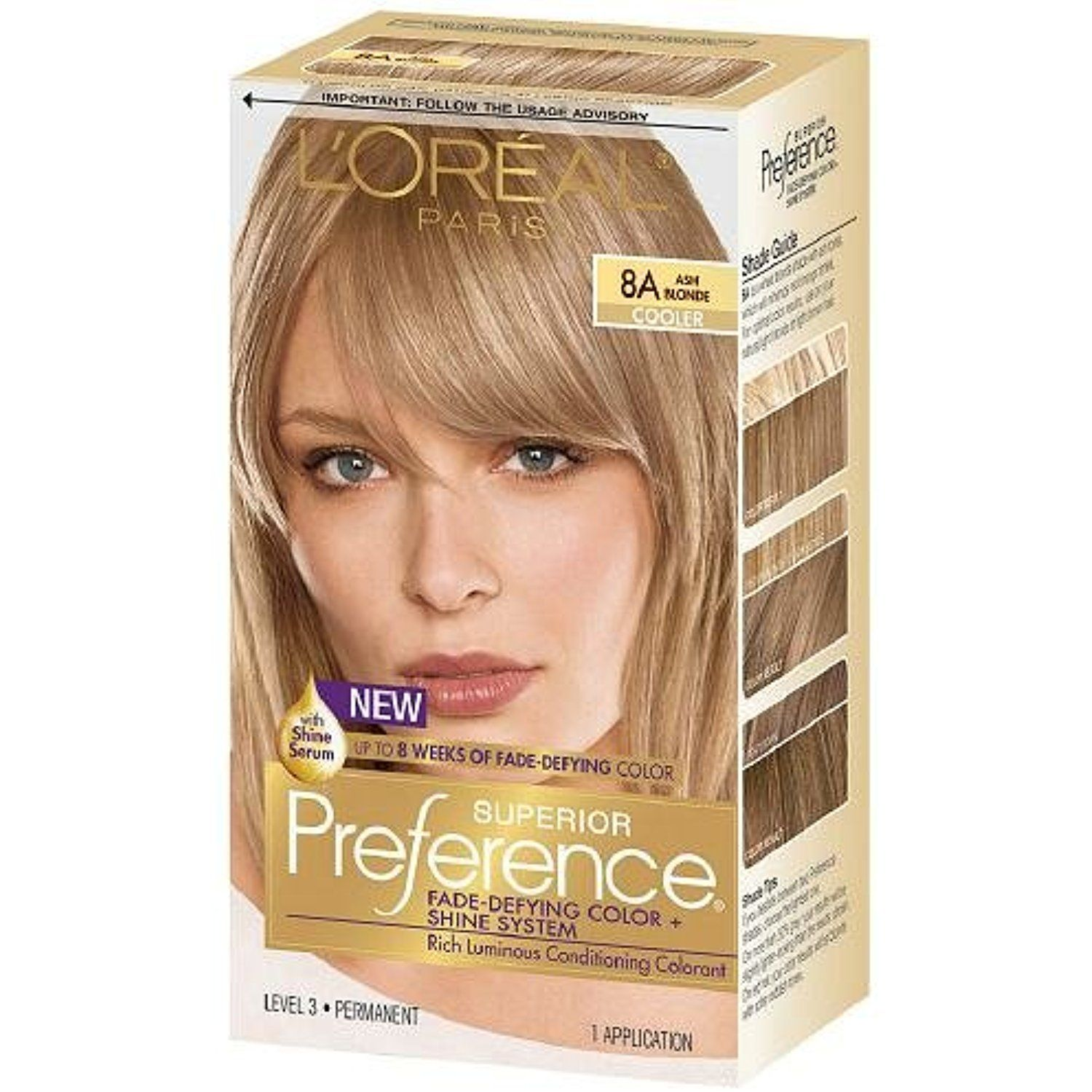 Pref Haircol 8a Size 1ct L Oreal Preference Hair Color Ash Blonde Personalcare Ash Hair Color Medium Ash Blonde Hair Ash Blonde