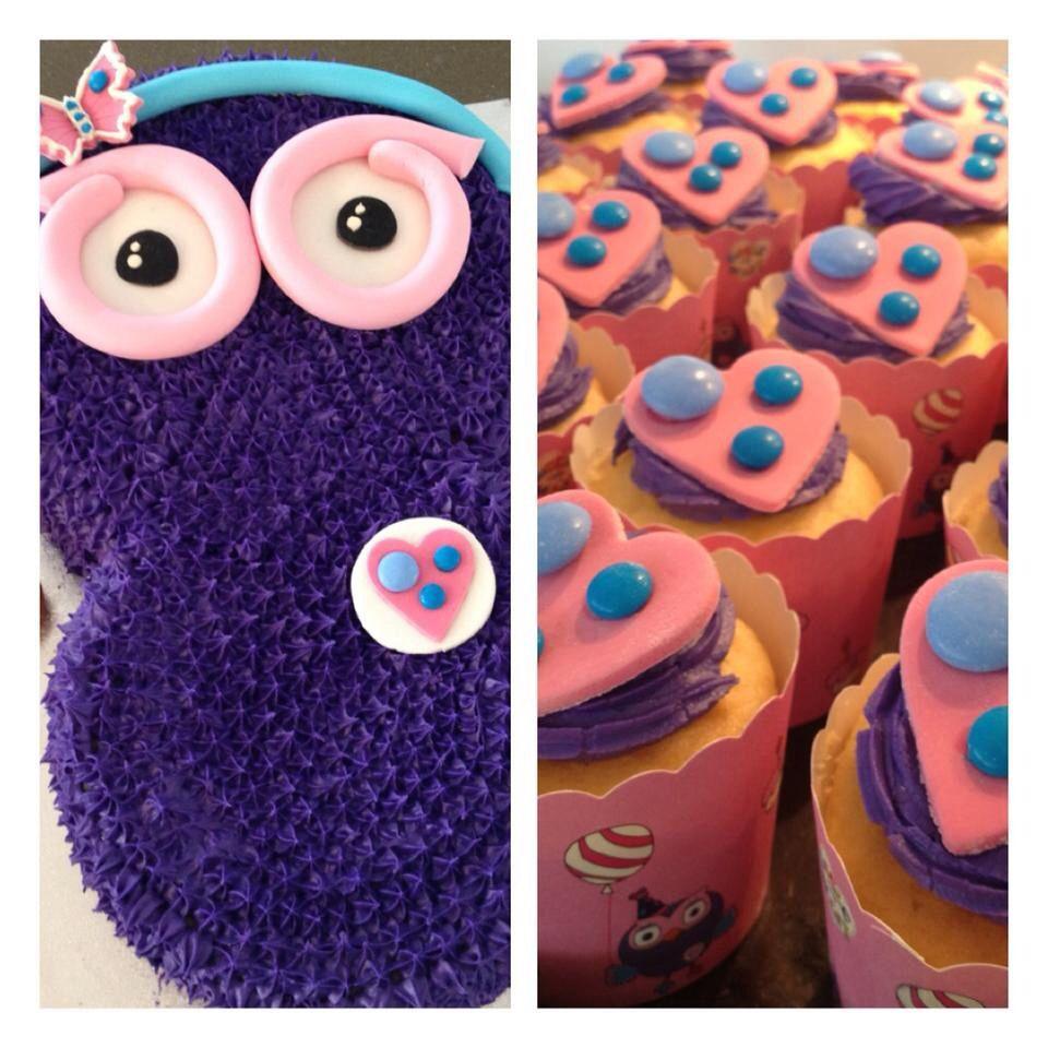 Avas 2nd Birthday Hootabelle Cake Cupcakes Giggle Hoot