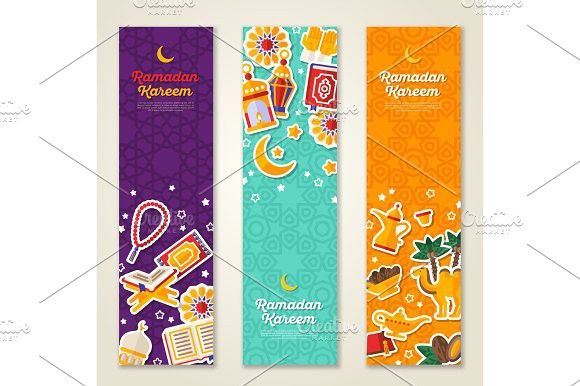 Ramadan Kareem Vertical Banners Ramadan Kareem Ramadan Kareem