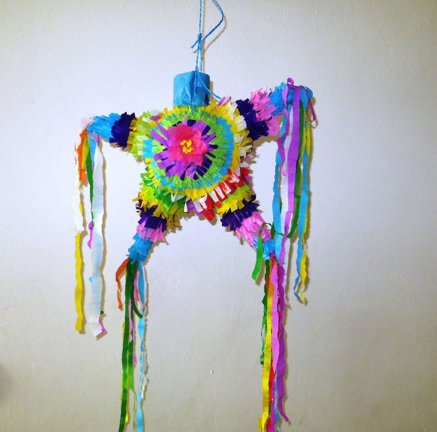 Pi±ata étoile mexicaine multicolore en miniature  offrir en cadeau
