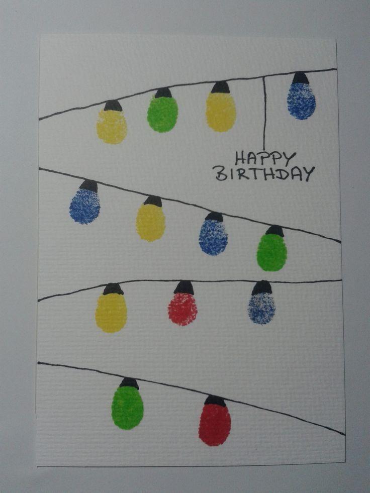 geburtstagskarte lampions diy handmade 1 Mit dem Finger stempeln