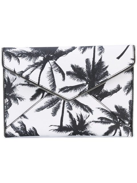 REBECCA MINKOFF Palm Tree Clutch Bag. #rebeccaminkoff #bags #leather #clutch #hand bags #