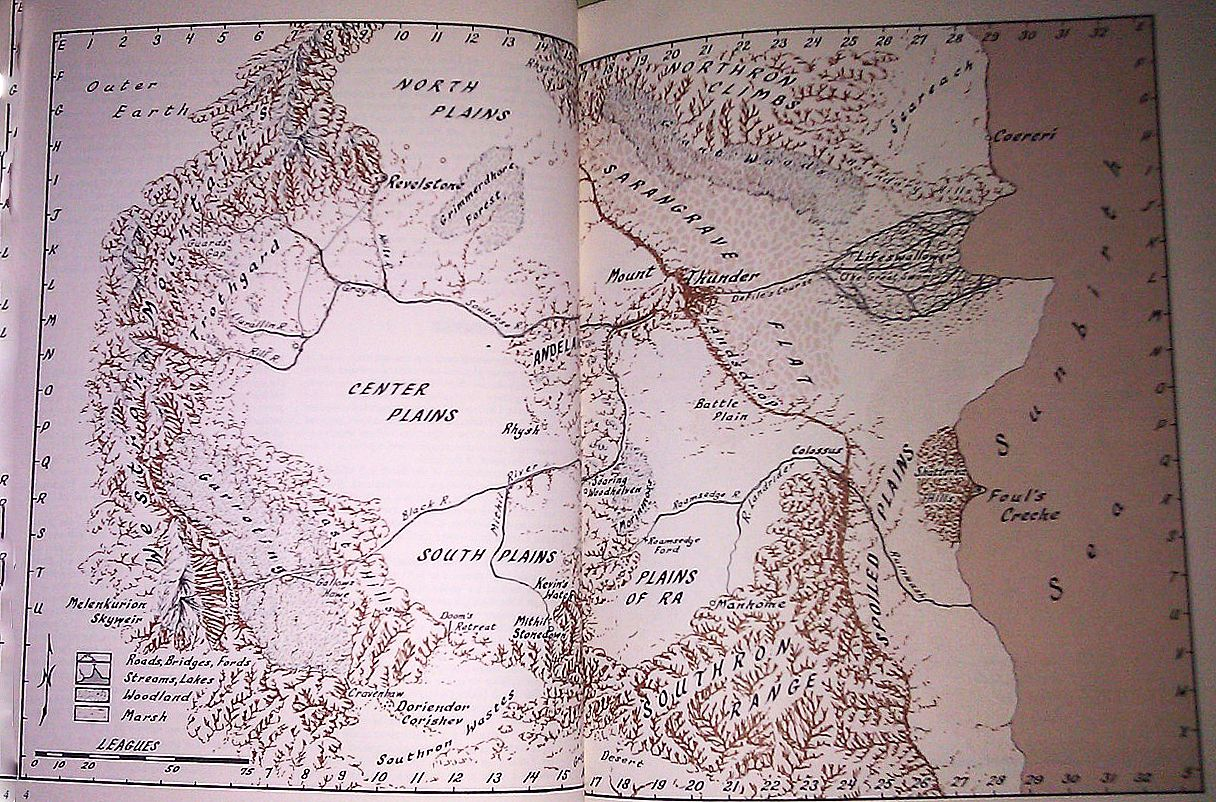 The Chronicles Of Thomas Covenant High Fantasy Map
