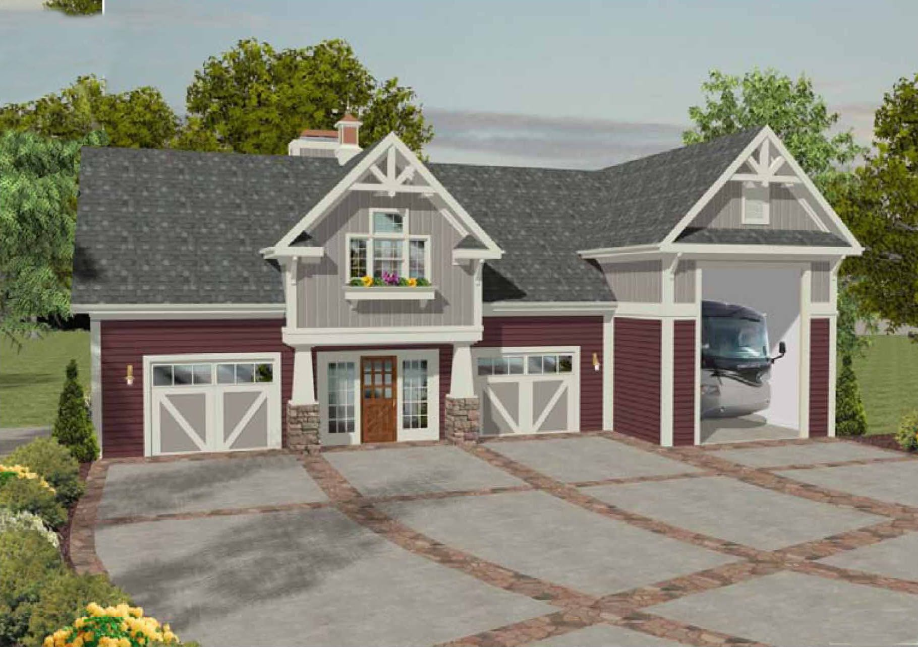 Plan 20083ga rv garage with observation deck rv garage Garage apartment design ideas
