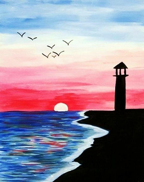 Lukisan Cat Air : lukisan, Al-Haddar, ~painting, Idea's!~, Lukisan, Gambar, Kanvas
