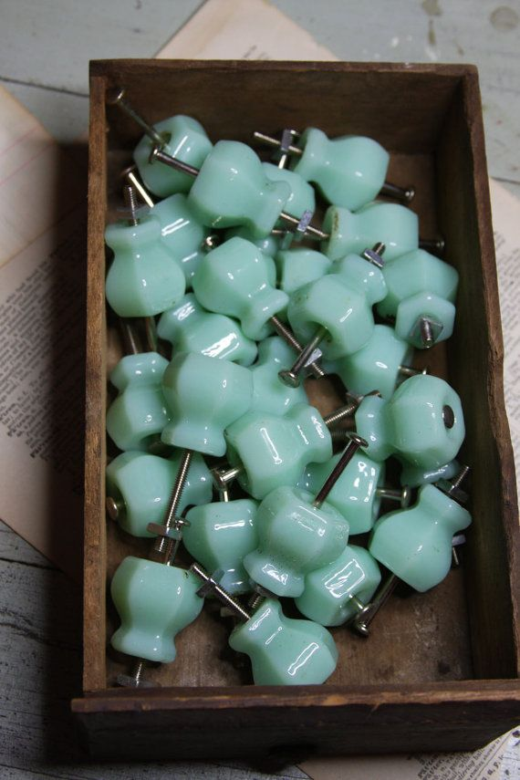 Lovely Vintage Glass Cabinet Knobs