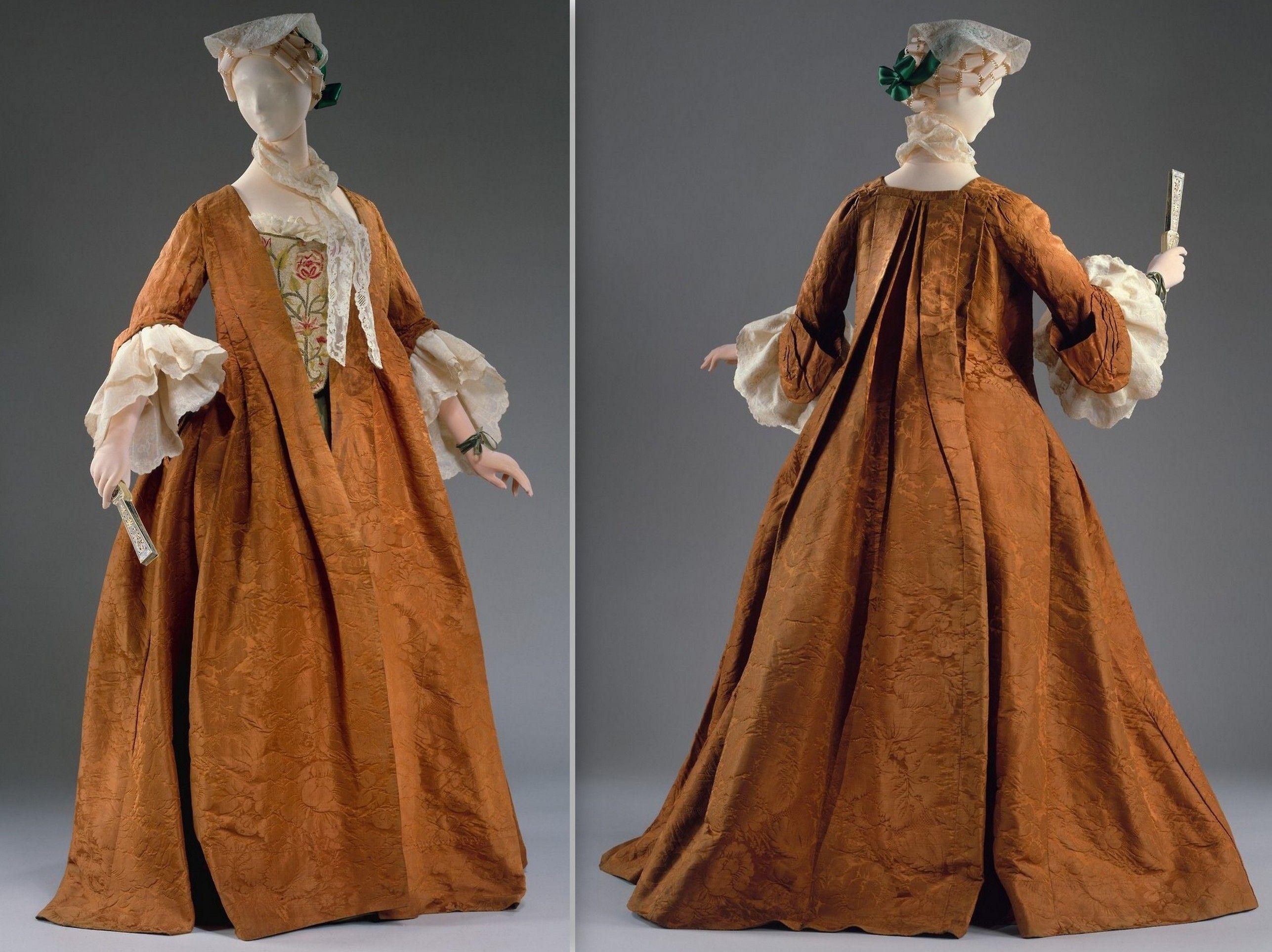 1735 1740 Robe Volante Moda Rococo