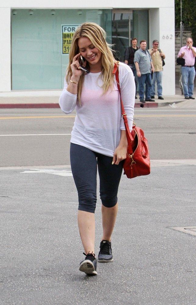 Hilary Duff wearing Louis Vuitton Speedy Bandouliere 25 bag ea1ededa3cbb6