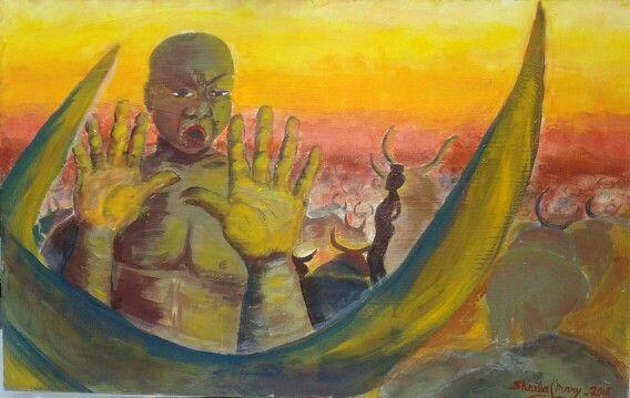 NEGRO CON GANADO, Serie Ethnos Art, de mi creacion