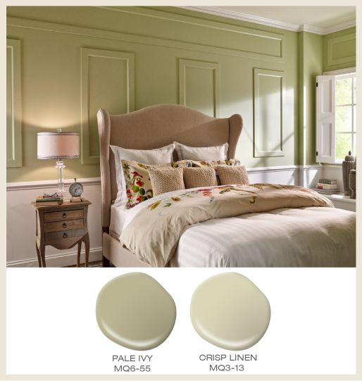 Colorfully Behr Farmhouse Chic: Create A Soft And Serene Escape With Pale Ivy MQ6-55 And