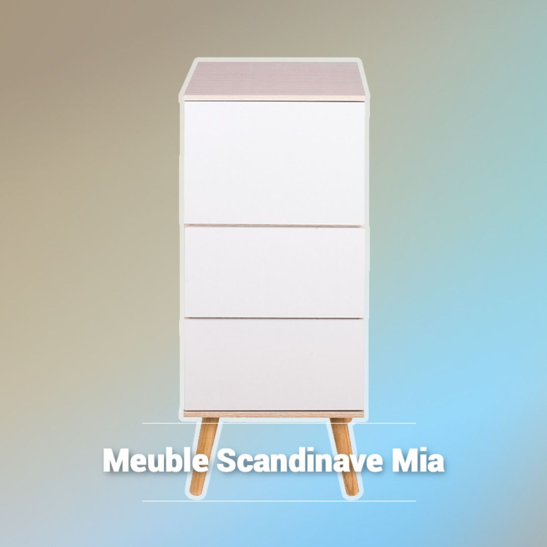 Meuble Scandinave Mia La Foir Fouille Meuble De Salle De Bain Meuble Tiroir