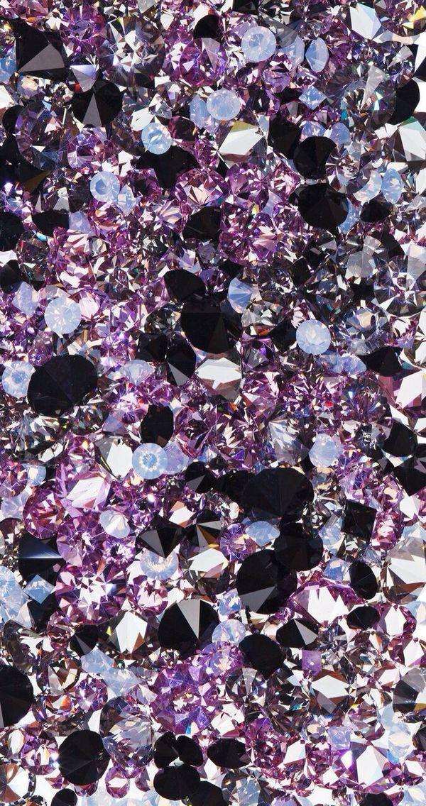 Shimmer Amethysts Diamonds Wallpaper